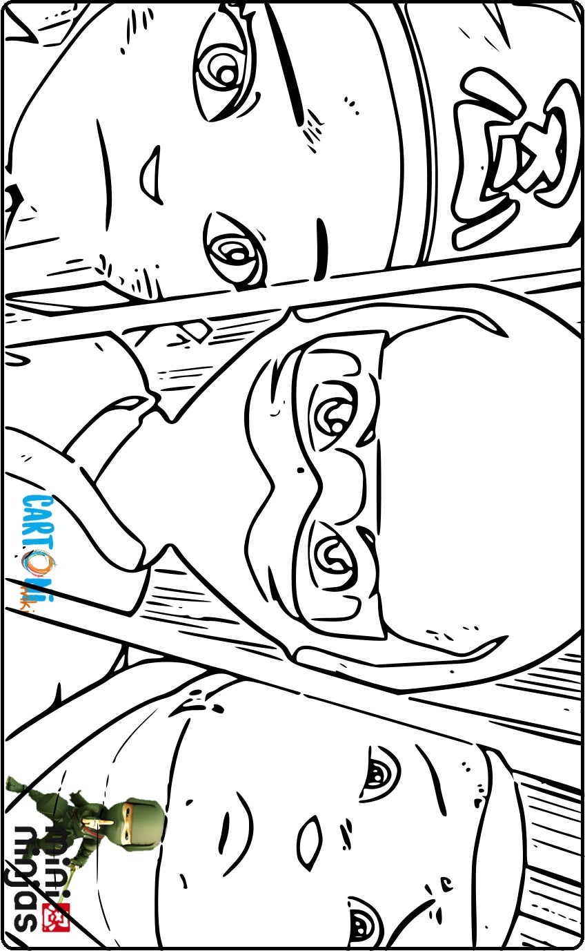 Colora Mini Ninjas - Disegni da colorare
