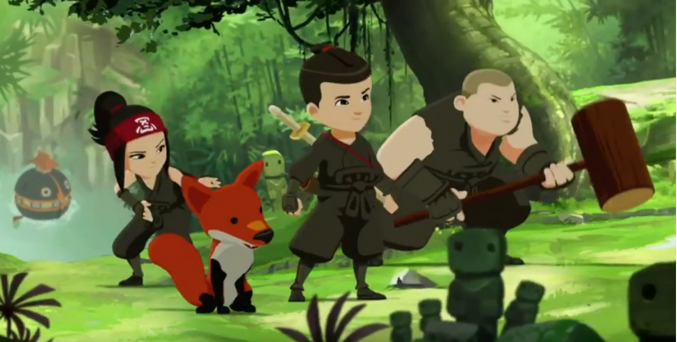 Sigla Mini ninjas cartoni animati rai gulp disney cyber studios bambini 6 - 11 anni serie animate