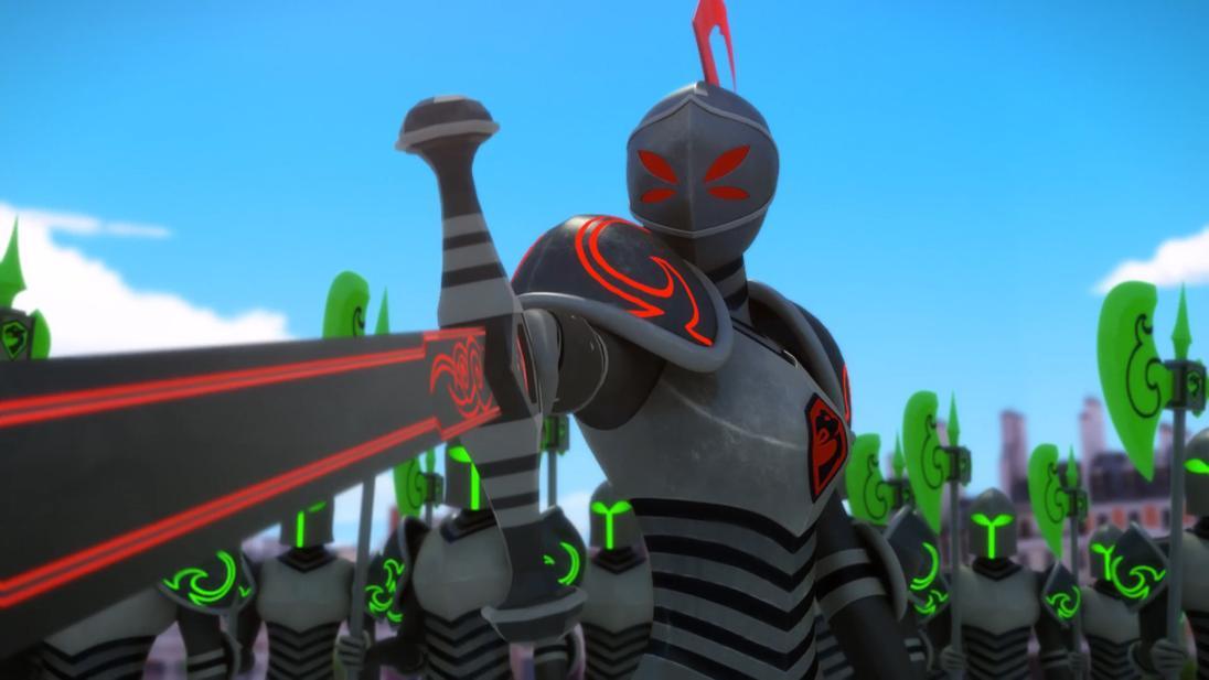 Mracolous le storie di ladybug e chat noir cartone animato Cattivi Cavaliere nero