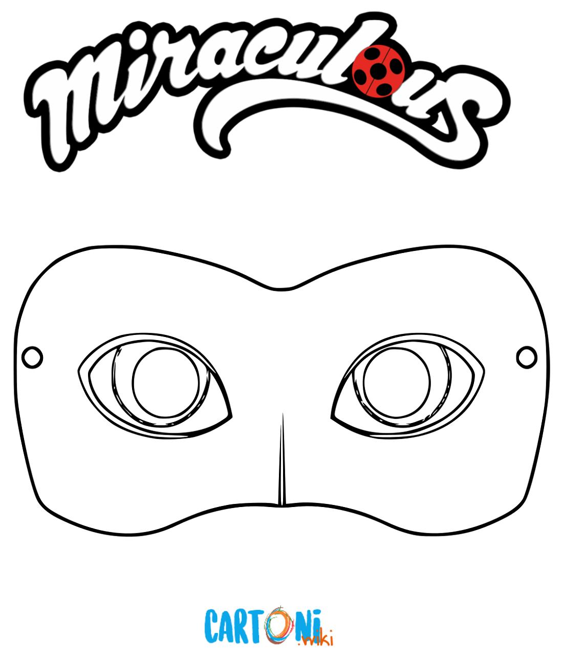Maschera Chat Noir da stampare e colorare - Maschere da colorare