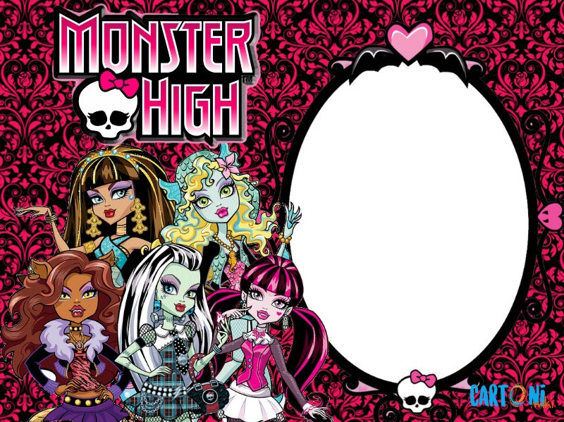 Monster High inviti compleanno - Inviti feste compleanno