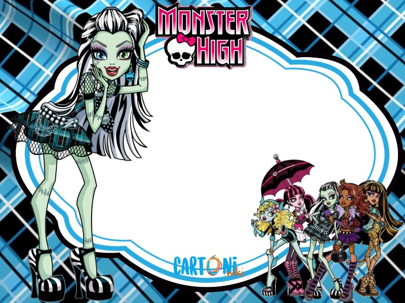 Monster High party invitation Frankie Stein