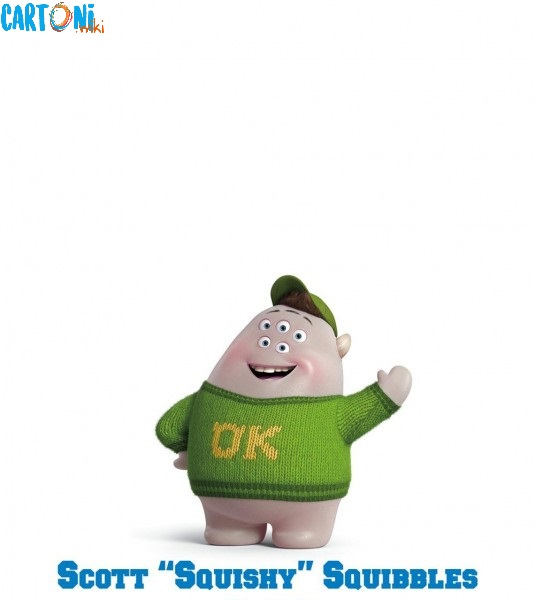Monsters University personaggi Scoot Squishy Squibbles film disney pixar mostri monsters university characters
