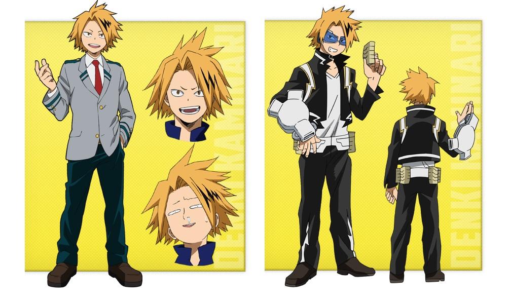 My Hero Academia personaggi - Denki Kaminari - Anime - Italia 2 - Costume - Quirk - Hero - personaggio - characters