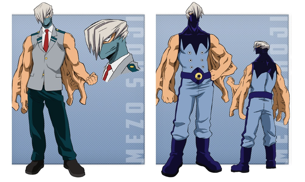 My Hero Academia personaggi - Mezo Shoji - Anime - Italia 2 - Costume - Quirk - Hero - personaggio - characters
