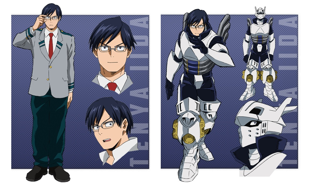 My Hero Academia personaggi - Tenya Lida - Anime - Italia 2 - Costume - Quirk - Hero - personaggio - characters