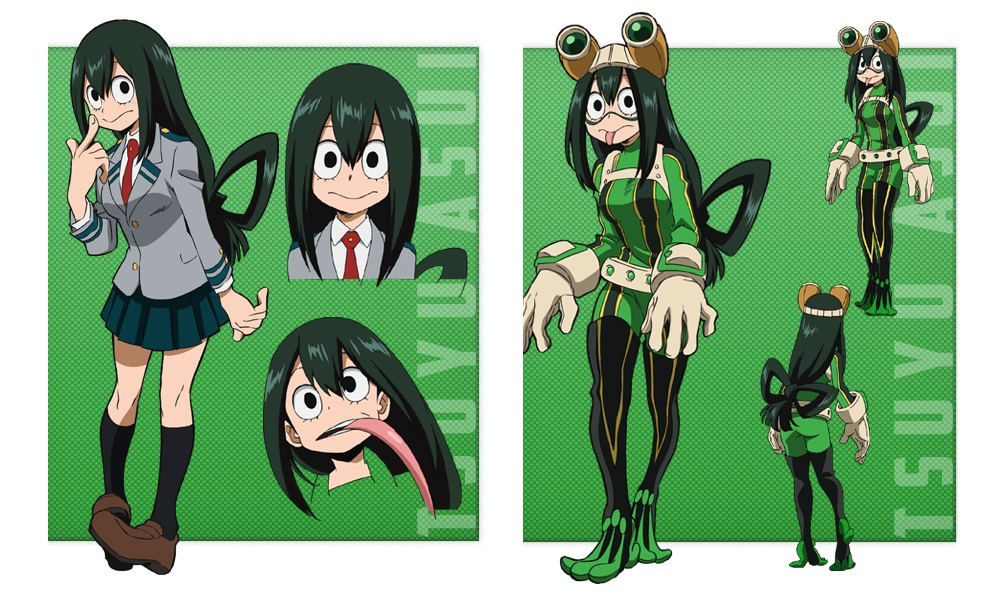 My Hero Academia personaggi - Tsuyu Asui - Anime - Italia 2 - Costume - Quirk - Hero - personaggio - characters
