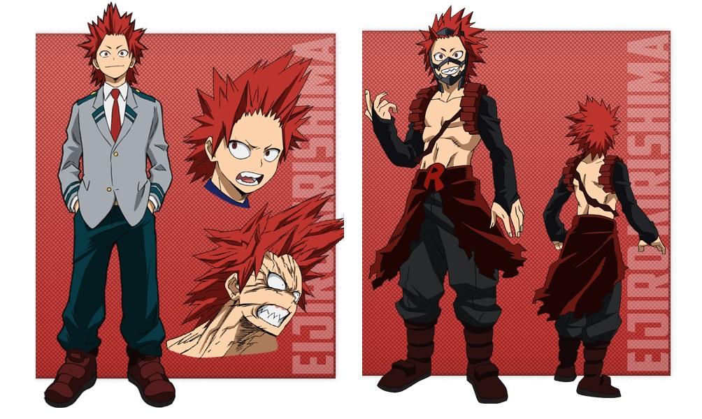 My Hero Academia personaggi - Eijiro Kirishima - Anime - Italia 2 - Costume - Quirk - Hero - personaggio - characters