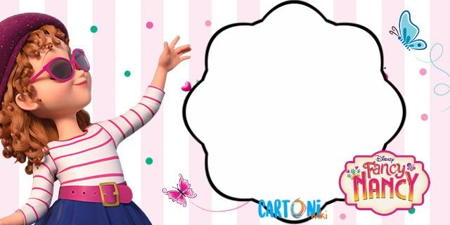 Fancy Nancy Inviti Compleanno Cartoni Animati