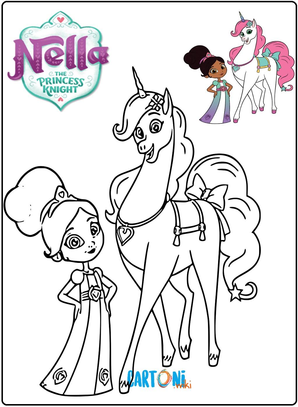 Colora Nella la principessa coraggiosa - Cartoni animati