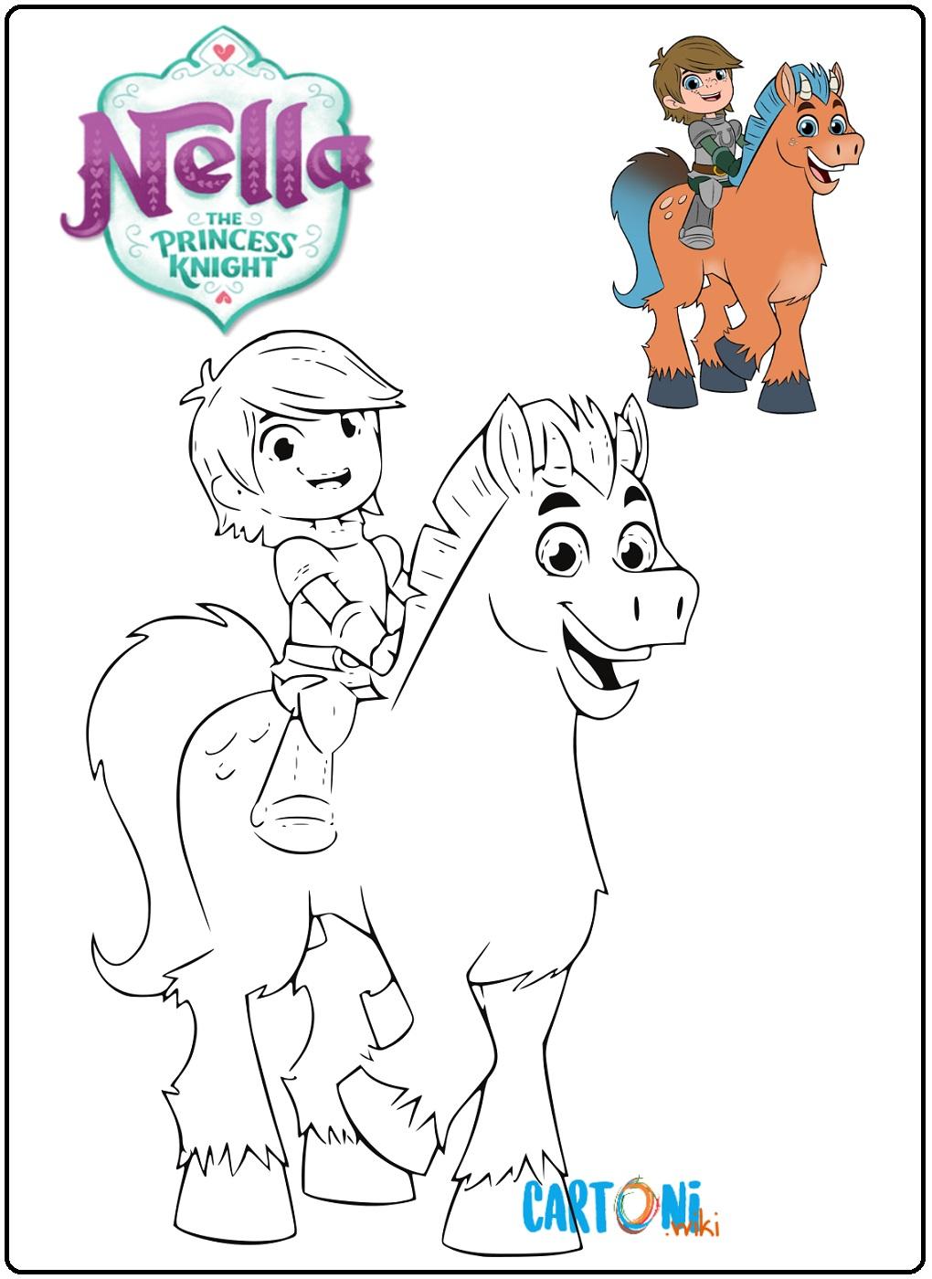 Nella the princess knight colouring pages - Cartoni animati