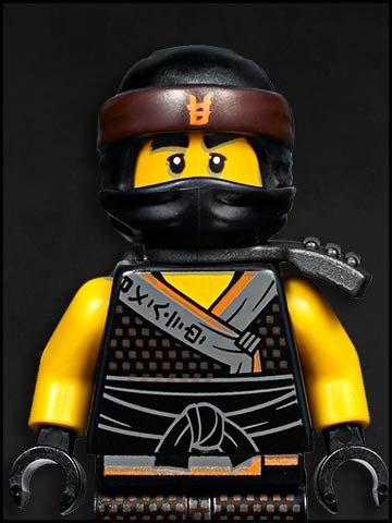 Lego Ninjago cartone animato - personaggi - earth black ninja cole
