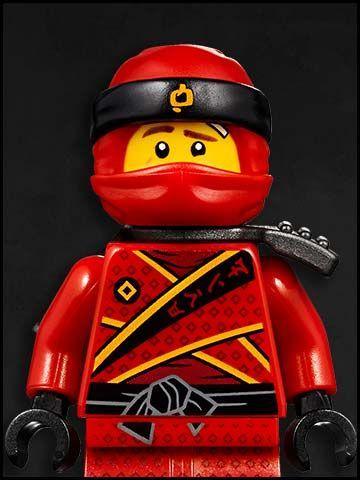 Lego Ninjago cartone animato - personaggi - ninja rosso - Kai - fire red ninja kai