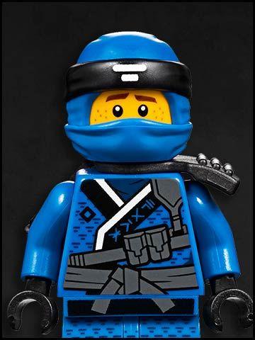 Lego Ninjago cartone animato - personaggi - ninja blu - Lightning Blue - Jay