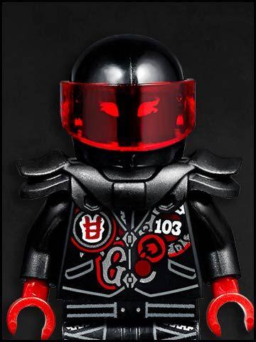 Lego Ninjago cartone animato - personaggi - Mr E. Sons of Garmadon Biker