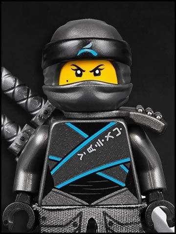 Lego Ninjago cartone animato - personaggi - ninja verde - water grey ninja Nya