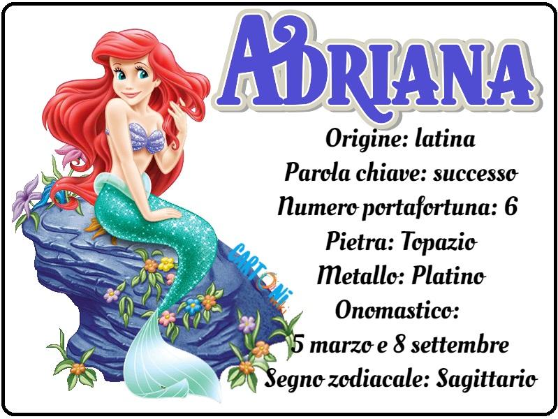 Adriana origine e significato del nome - Cartoni animati