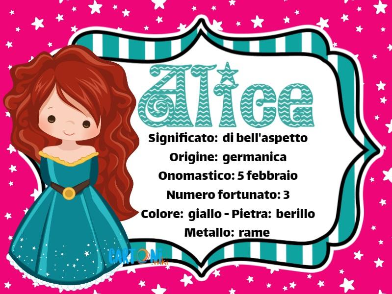 Alice significato del nome e altre curiosità - Cartoni animati