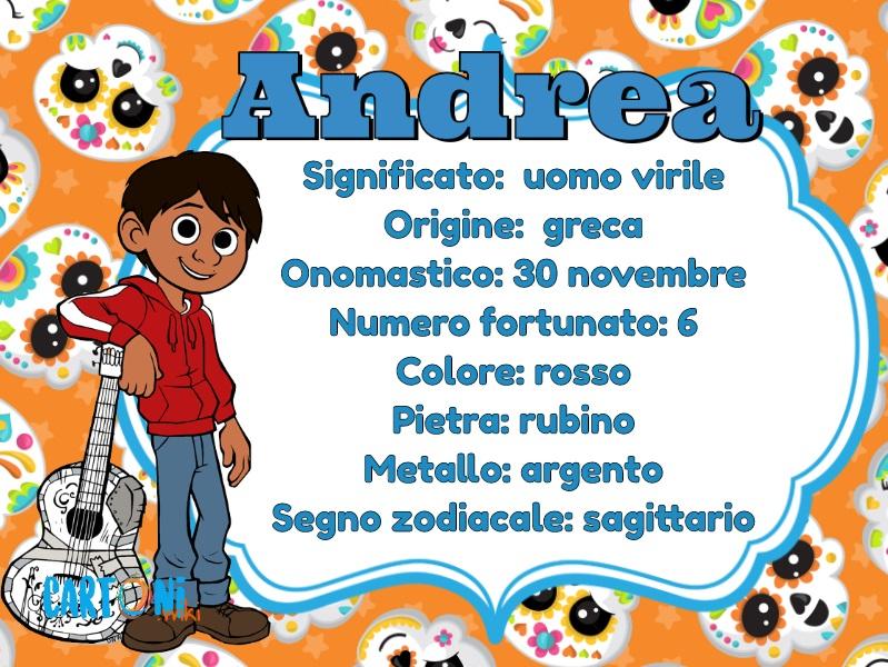 Andrea significato del nome onomastico e altre curiosità - Cartoni animati