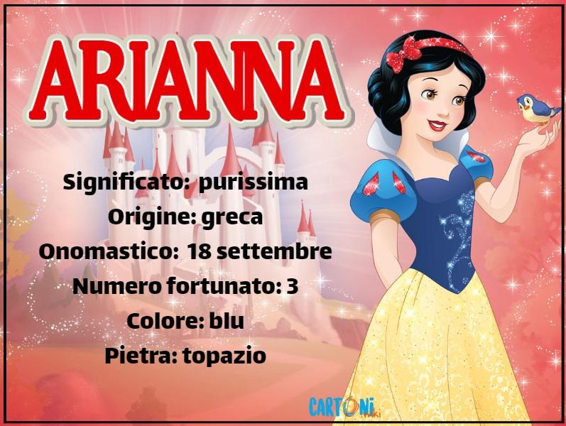 Arianna significato e origine del nome - Cartoni animati