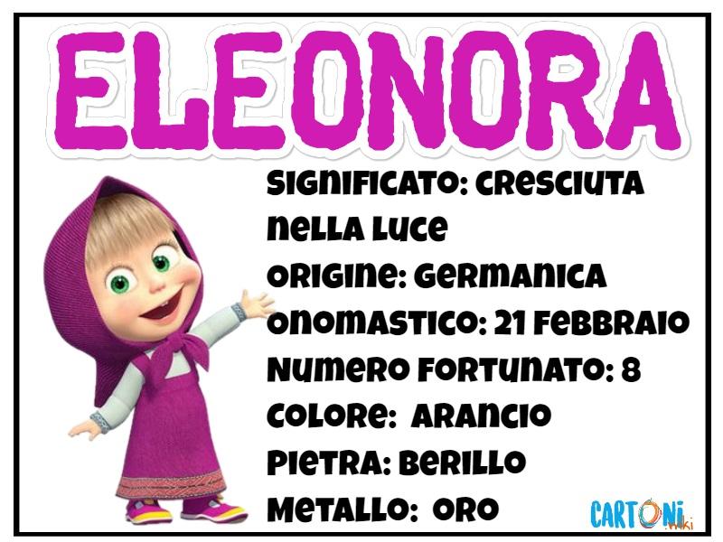 Eleonora origine e significato del nome - Cartoni animati