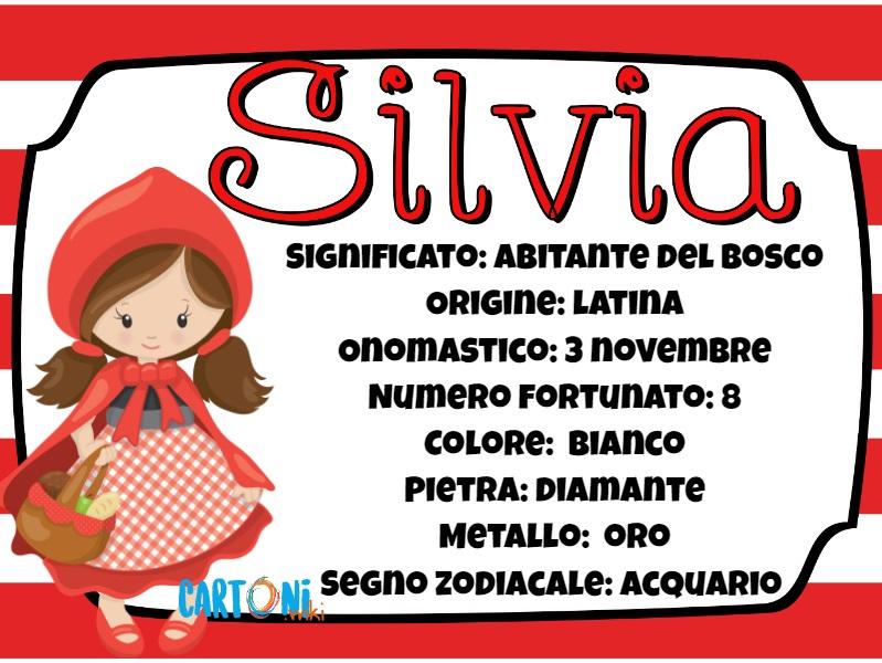 Silvia significato e origine del nome - Cartoni animati