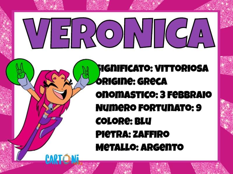 Veronica significato e origine del nome - Cartoni animati
