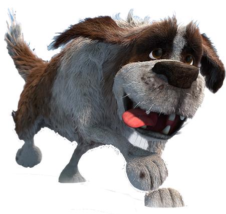 cartoni animati film d'animazione 2016 palle di neve snowtime personaggi cleo cagnolone