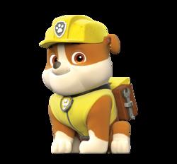 Paw PAtrol - Cuccioli - Personaggi - Rubble - cartoni animati - Nick Junior - Sqauadra Paw PAtrol