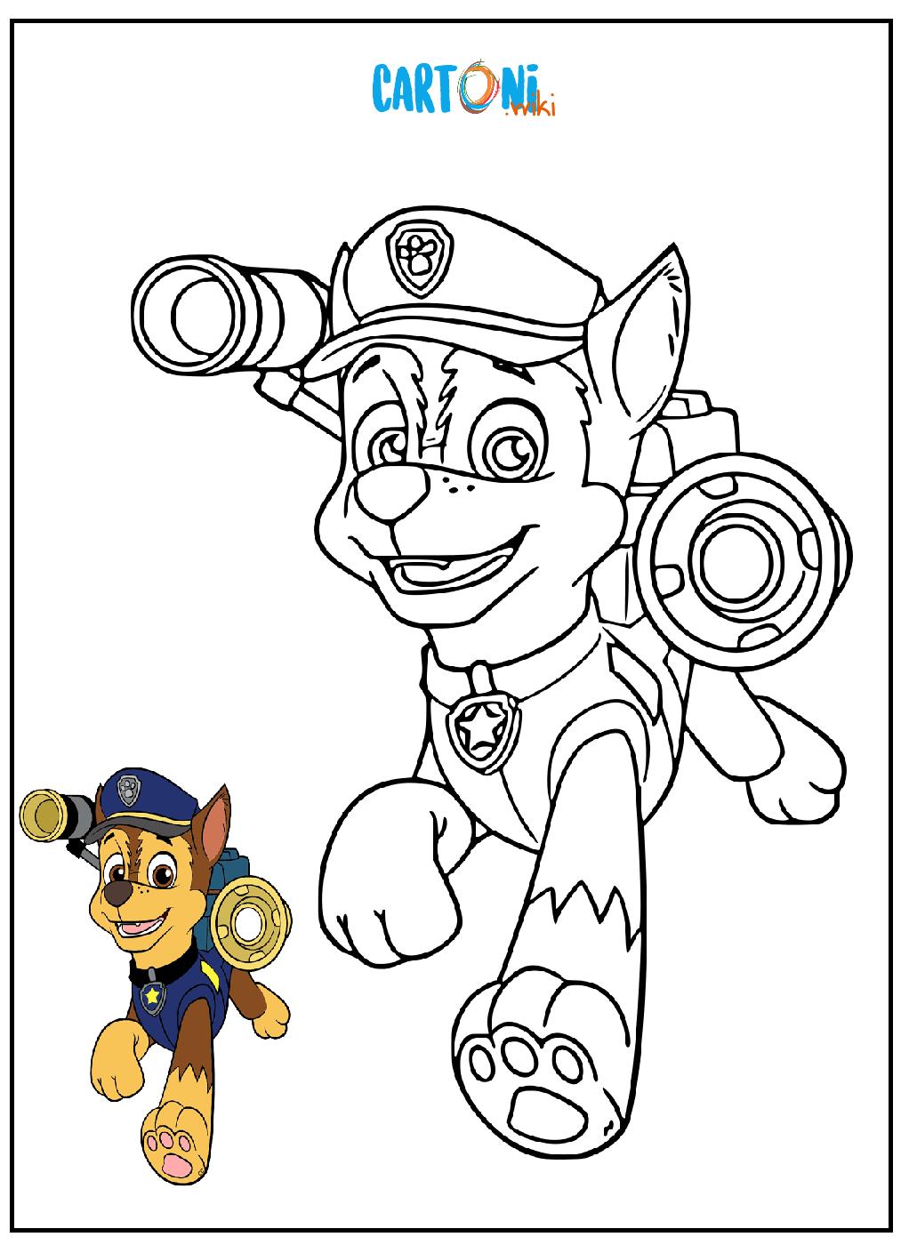 Chase paw patrol da colorare cartoni animati for Disegni da colorare paw patrol