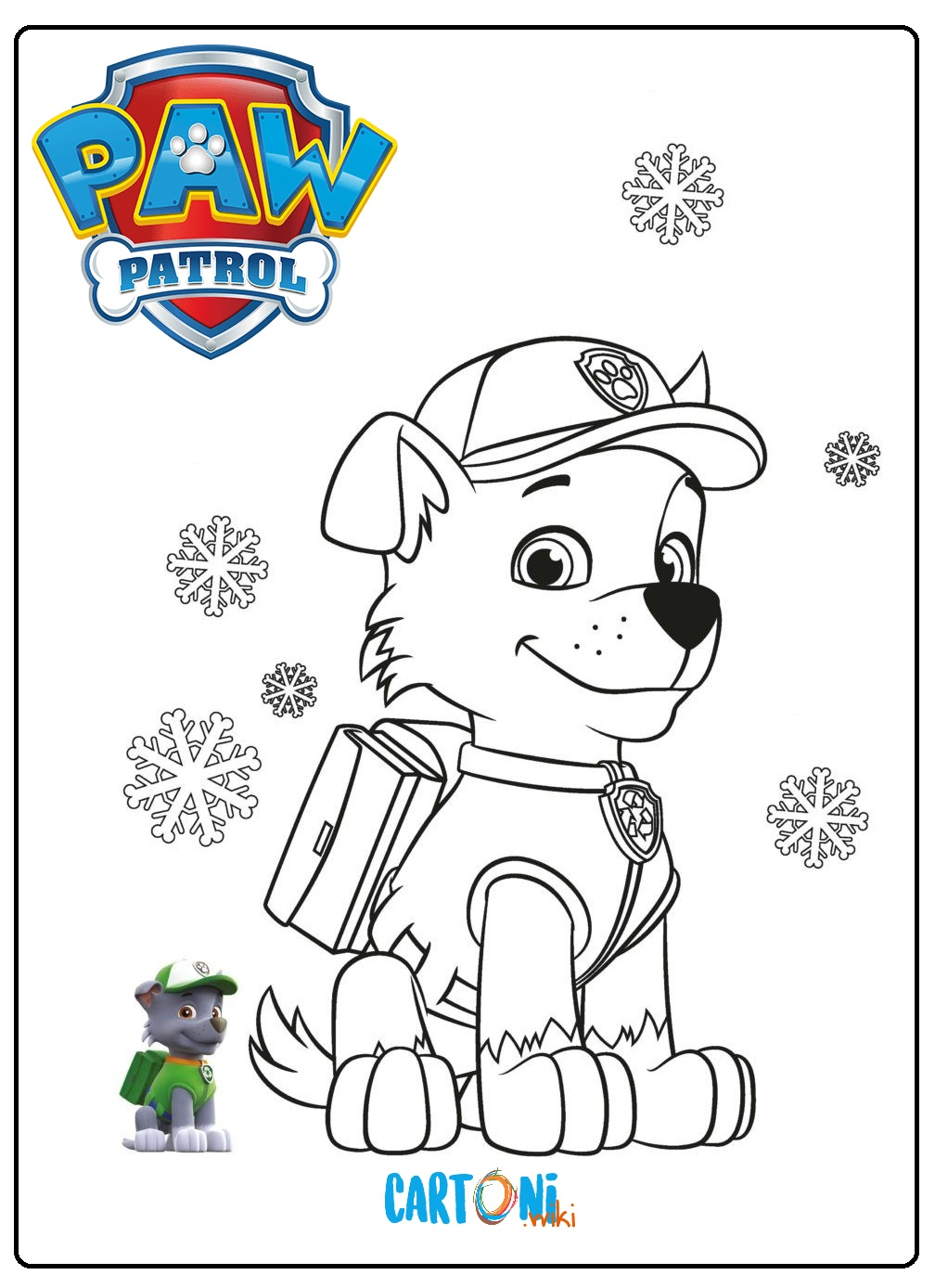 Zuma paw patrol disegni for Disegni da stampare paw patrol