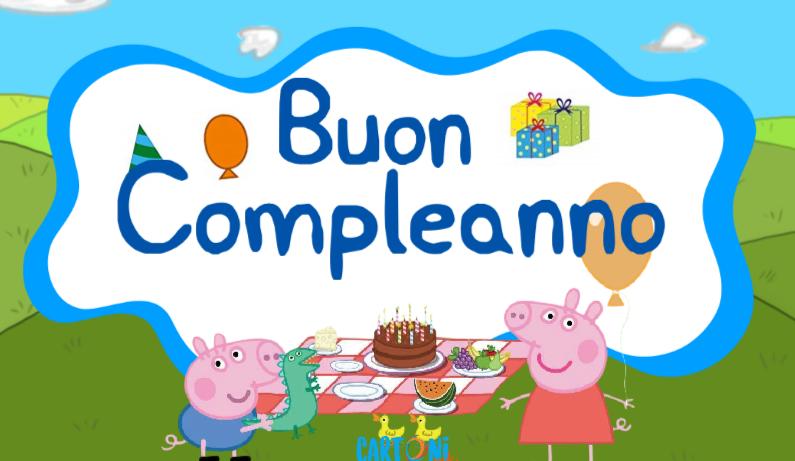 Buon compleanno con Peppa Pig e George   Cartoni animati