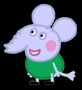 Peppa Pig Personaggi Peppa maialina cartoni animati Characters Edmond Elefante sapientino Elephant