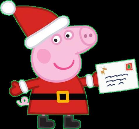 Immagini Peppa Pig vestita da babbo Natale - Cartoni animati