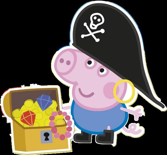 George pig Pirate clipart free download - Cartoni animati