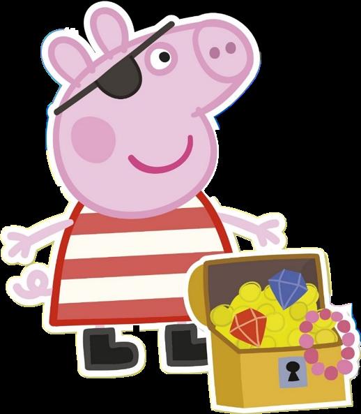 Peppa Pig Pirate Clipart png - Cartoni animati