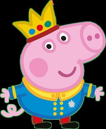 George Pig Prince Free Clipart - Cartoni animati