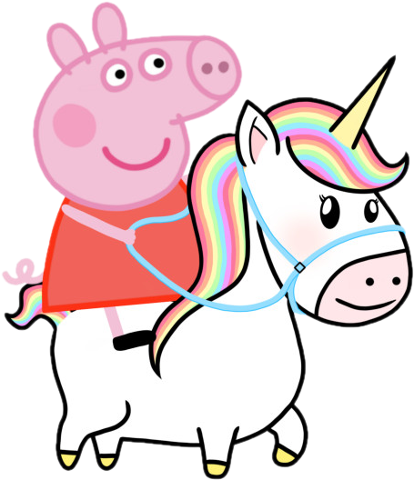 Peppa Pig unicorn clipart  - Cartoni animati