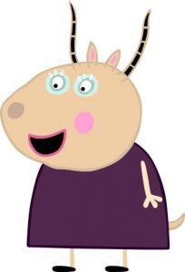 Peppa Pig Personaggi Peppa maialina cartoni animati Characters Madame Gazelle Signora Gazella