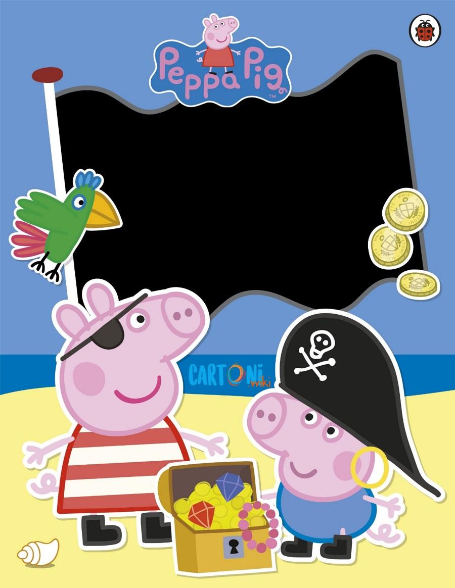 Peppa Pig party invitation cards - Cartoni animati