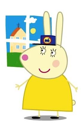 Peppa Pig Personaggi Peppa maialina cartoni animati Characters Signora coniglio Mrs Rabbit