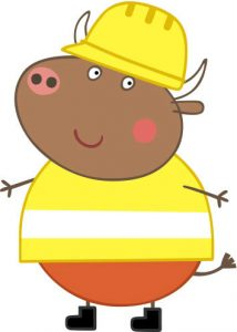 Peppa Pig Personaggi Peppa maialina cartoni animati Characters Bull Signor toro