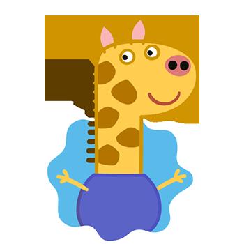 Peppa Pig Personaggi Peppa maialina cartoni animati Characters Gerald Giraffe Giraffa