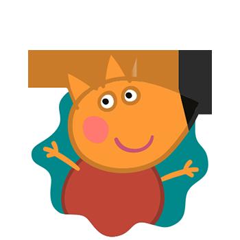 Peppa Pig Personaggi Peppa maialina cartoni animati Characters Freddy Volpe Freddy Fox
