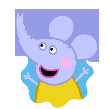 Peppa Pig Personaggi Peppa maialina cartoni animati Characters Emilòy Elephant Emily elefante