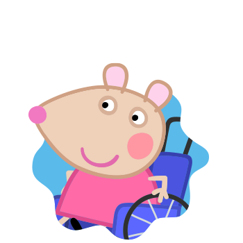 Peppa Pig Personaggi Peppa maialina cartoni animati Characters Mandy Topo
