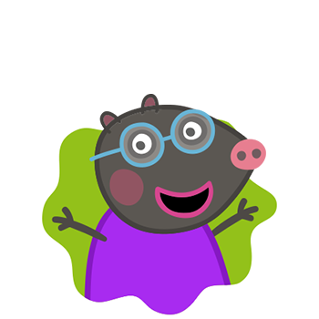 Peppa Pig Personaggi Peppa maialina cartoni animati Characters Candy Cat Candy Gatto
