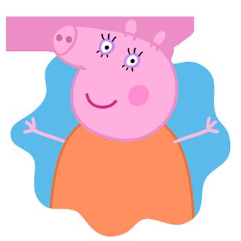Peppa Pig Personaggi Peppa maialina cartoni animati Characters Mamma Pig