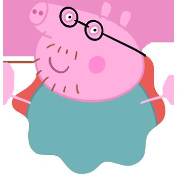 Peppa Pig Personaggi Peppa maialina cartoni animati Characters Papà Pig Dad Pig