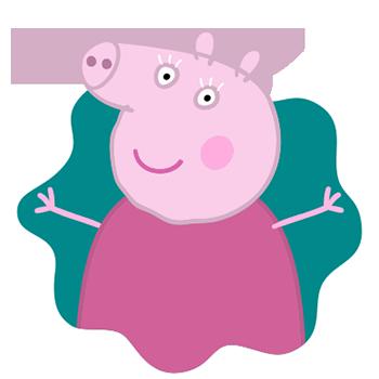Peppa Pig Personaggi Peppa maialina cartoni animati Characters Nonna Pig  Granny